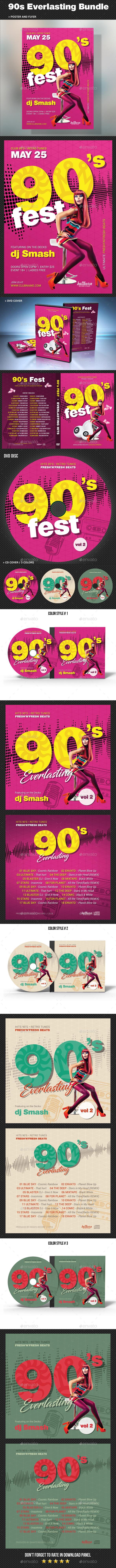 90s Everlasting Bundle - CD & DVD Artwork Print Templates