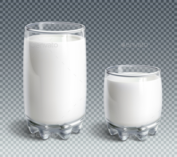 Glass of Milk - Food Objects