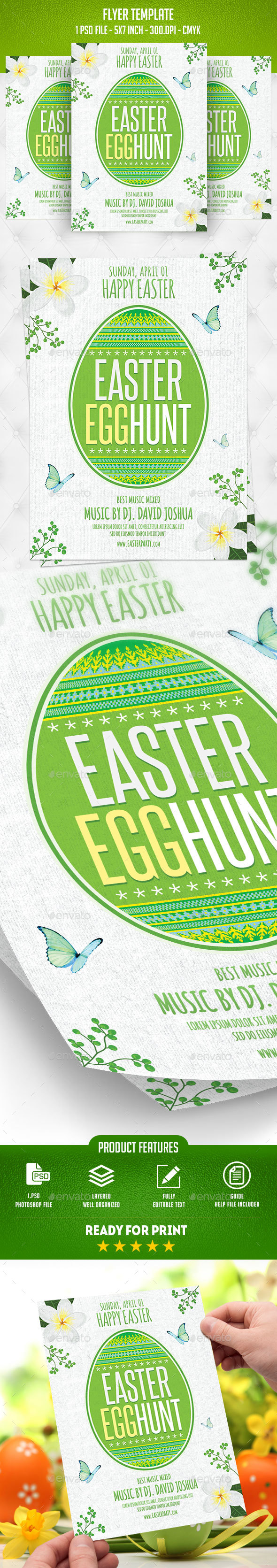 Easter Flyer Template - Flyers Print Templates