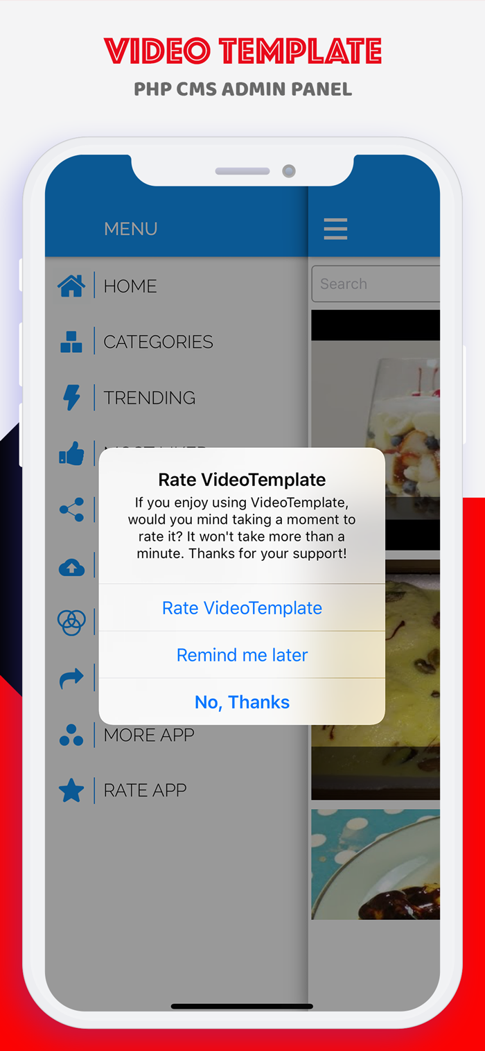 Multi-Purpose YouTube Video Template for iOS with PHP CMS Admin Panel