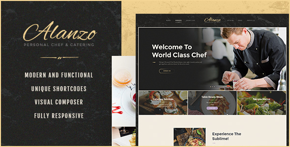 Image of Alanzo | Personal Chef & Catering WordPress Theme