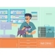 Veterinarian Examining a Dog in Animal Hospital - GraphicRiver Item for Sale
