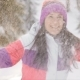 Young Woman Enjoying Sunny Winter Day, Throwing Snow Outdoors - VideoHive Item for Sale