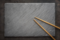 Sushi black slate and chopsticks - PhotoDune Item for Sale