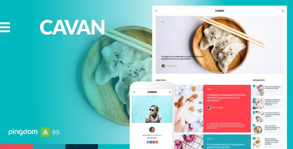 CAVAN - A Distinctive Blog Template - Personal Site Templates