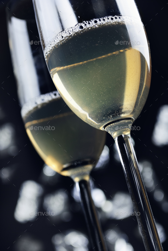 Champagne glasses - Stock Photo - Images