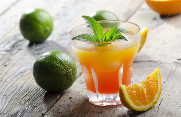 Orange fruit cocktail - Stock Photo - Images