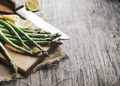 Asparagus on wooden board - PhotoDune Item for Sale