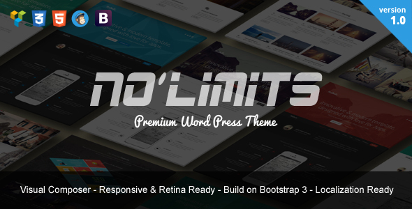 NoLimits | One Page Bootstrap Responsive WordPress - Marketing Corporate