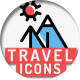 Travel Holiday Flat Icons - VideoHive Item for Sale