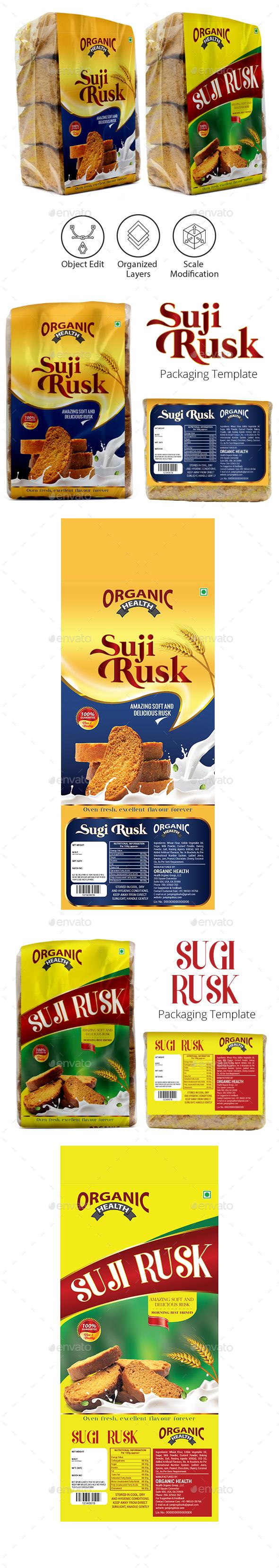 Rusk Packaging Template Vol-1 - Packaging Print Templates