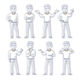 Young Man Stands in Different Poses - GraphicRiver Item for Sale