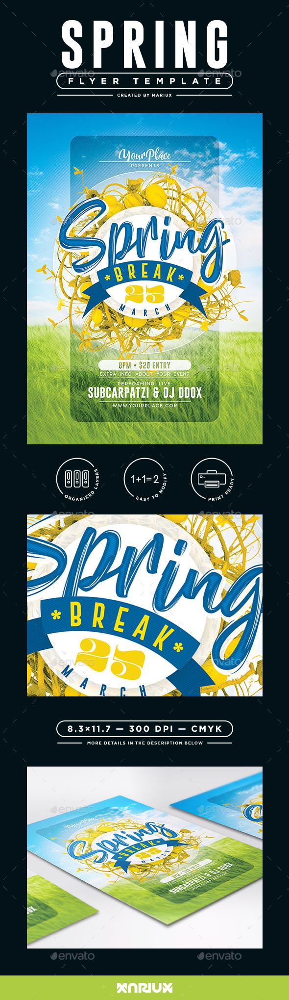 Spring Break Flyer/Poster - Events Flyers