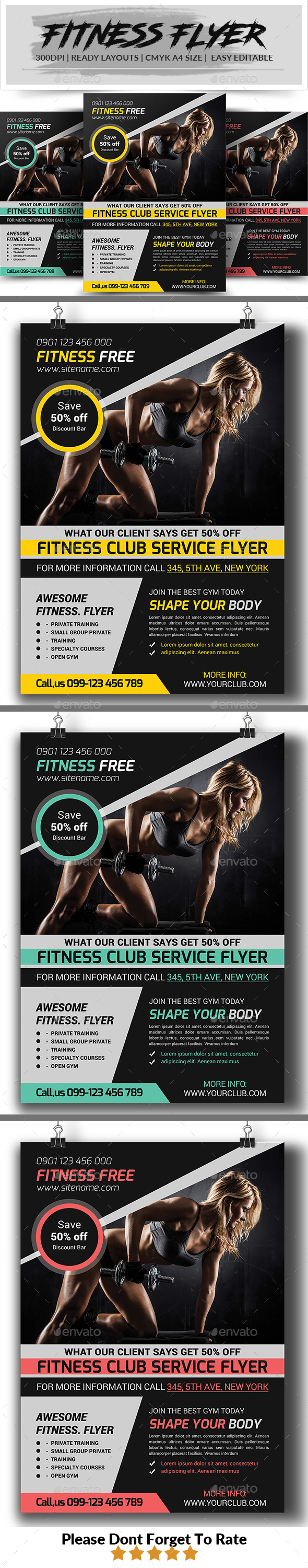 Fitness Flyer Graphics, Designs & Templates from GraphicRiver