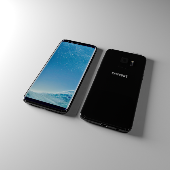 Samsung S8 low poly - 3DOcean Item for Sale