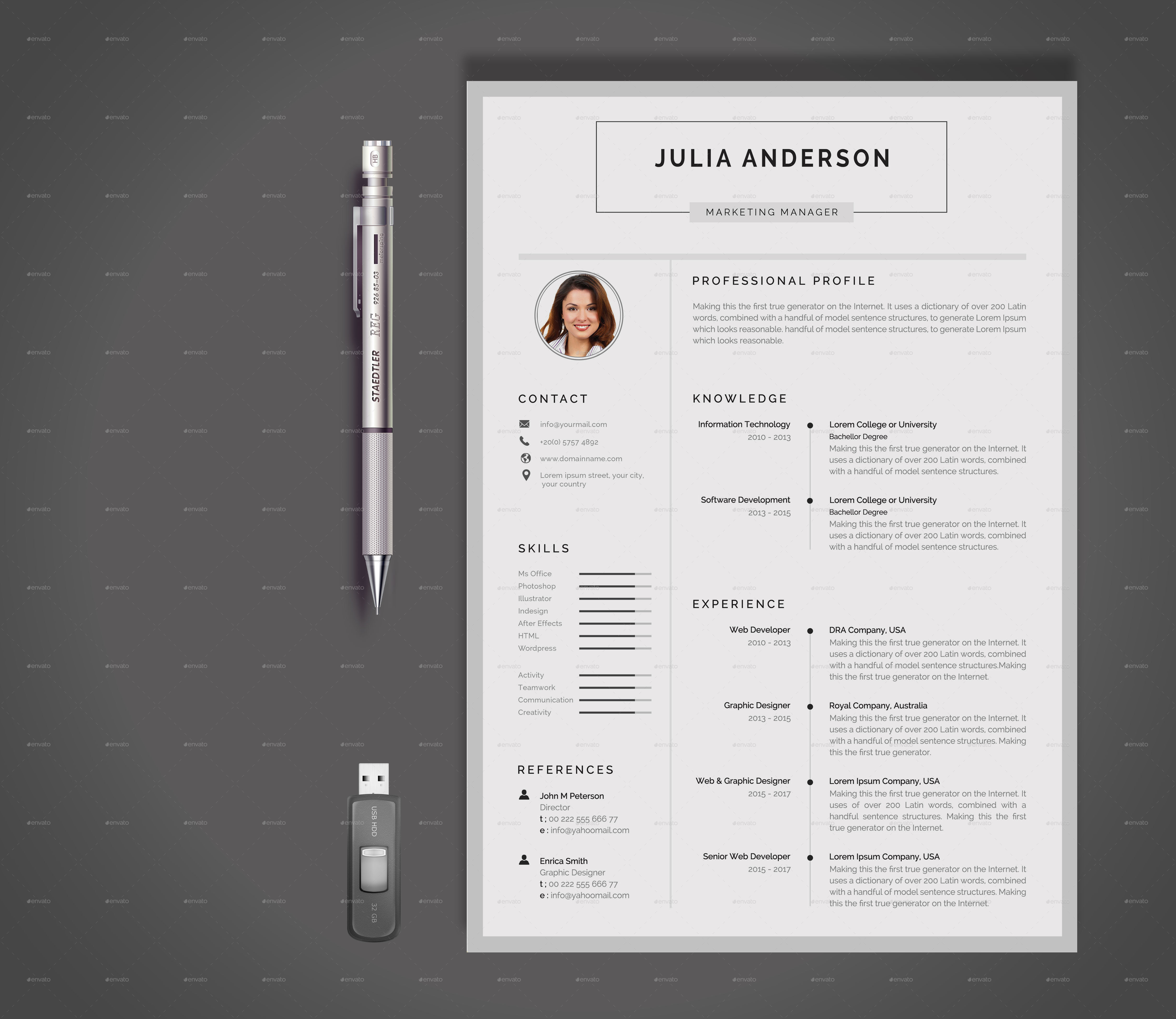 resume by realisticart