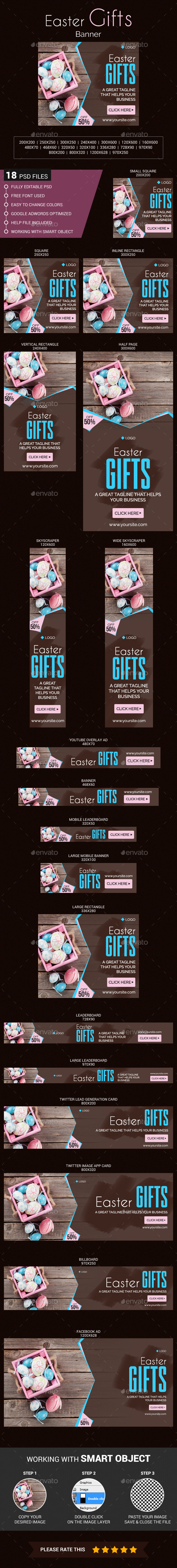 Easter Gifts Banner - Banners & Ads Web Elements
