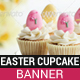 Easter Cupcakes Banner - GraphicRiver Item for Sale
