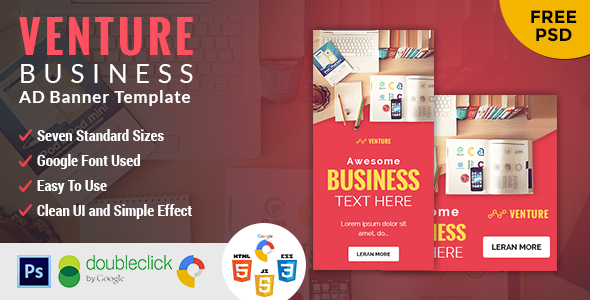 Venture | Business HTML 5 Animated Google Banner - CodeCanyon Item for Sale