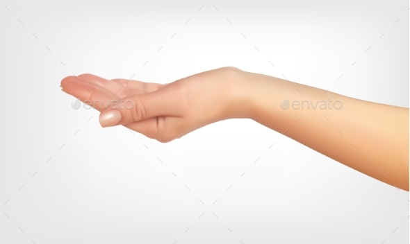 Realistic 3D Silhouette of Hand Asking - Miscellaneous Vectors