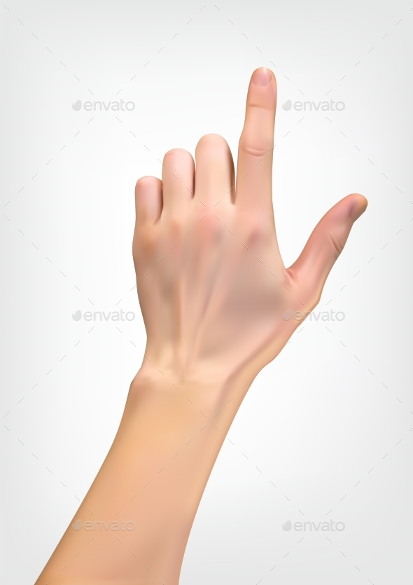 Realistic 3D Silhouette of Hand with an Index - Miscellaneous Vectors
