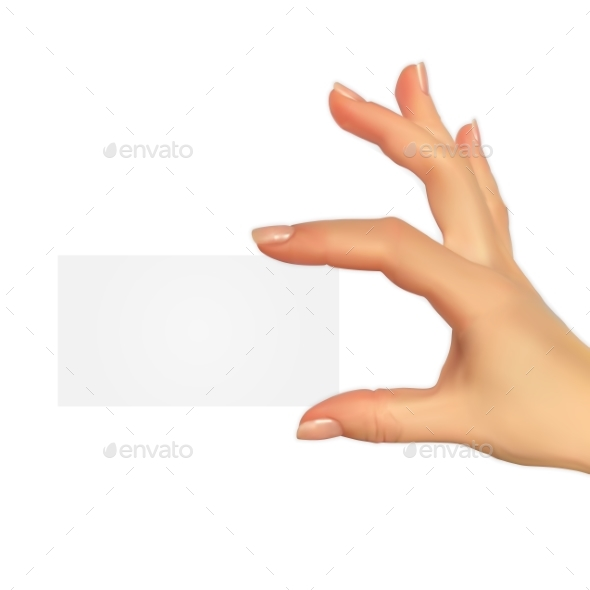 Realistic 3D Silhouette of Hand with Gift Voucher - Miscellaneous Vectors