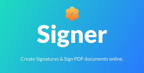 Signer | Create Digital signatures and Sign PDF documents online - CodeCanyon Item for Sale