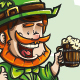 Cheerful Irish Elf With Big Smile - GraphicRiver Item for Sale