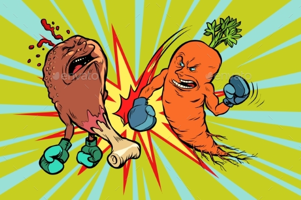 Carrot Beats Fast Food Fried Chicken Leg - Food Objects