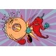 Red Pepper Beats a Donut - GraphicRiver Item for Sale