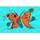 Carrots Beats a Sausage - GraphicRiver Item for Sale