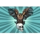 Owl and Human Skull - GraphicRiver Item for Sale