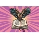 Owl on an Old Book a Symbol of Wisdom - GraphicRiver Item for Sale