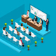 Isometric Business Conference Template