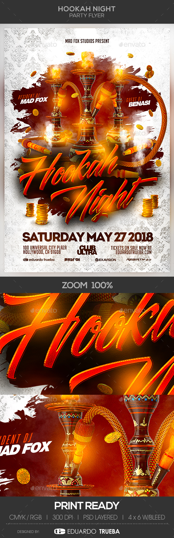 Hookah Night Party Flyer - Events Flyers