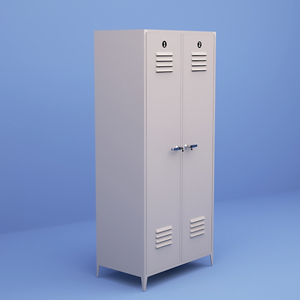 Metal Lockers - 3DOcean Item for Sale