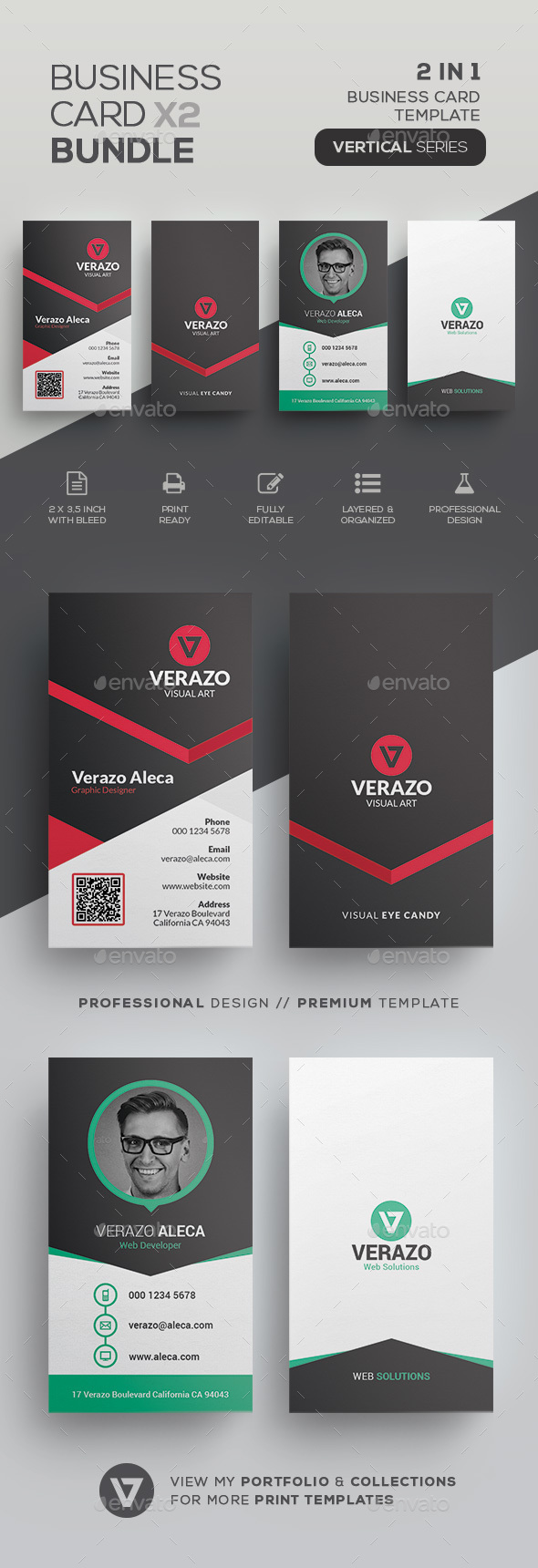Business Card Bundle 51 - Corporate Business Cards