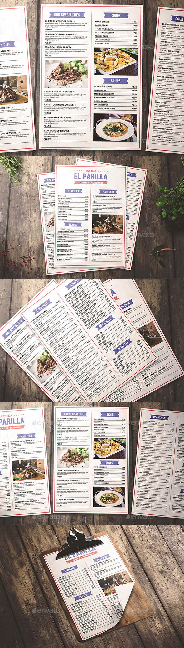 Simple Restaurant Menu - Flyers Print Templates
