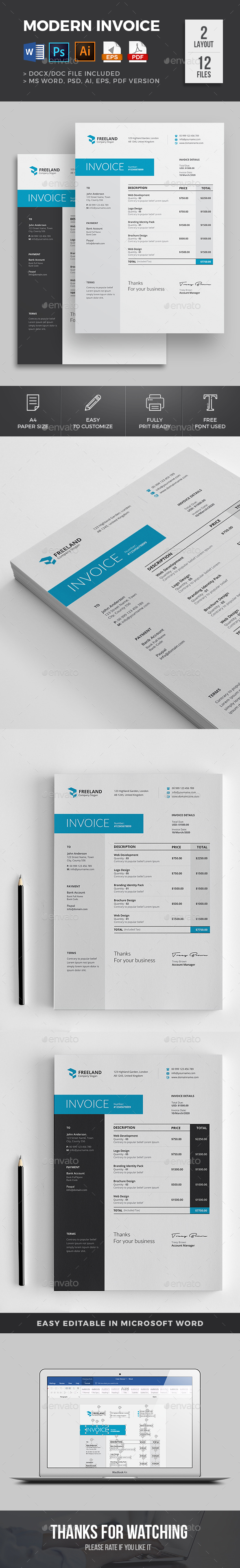 Invoice - Proposals & Invoices Stationery