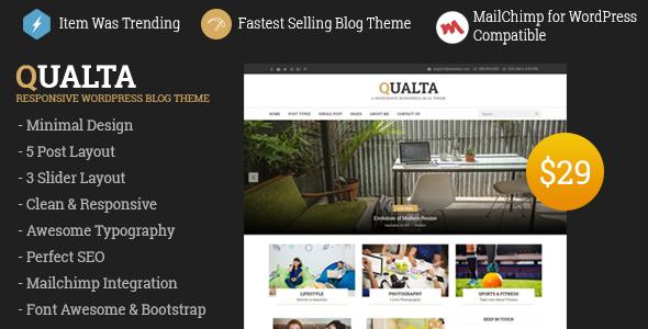 Qualta - Responsive WordPress Blog Theme - Blog / Magazine WordPress