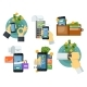 Mobile Payment Set in Flat Design - GraphicRiver Item for Sale