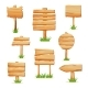 Wooden Signpost in Grass Isolated Vector Set - GraphicRiver Item for Sale