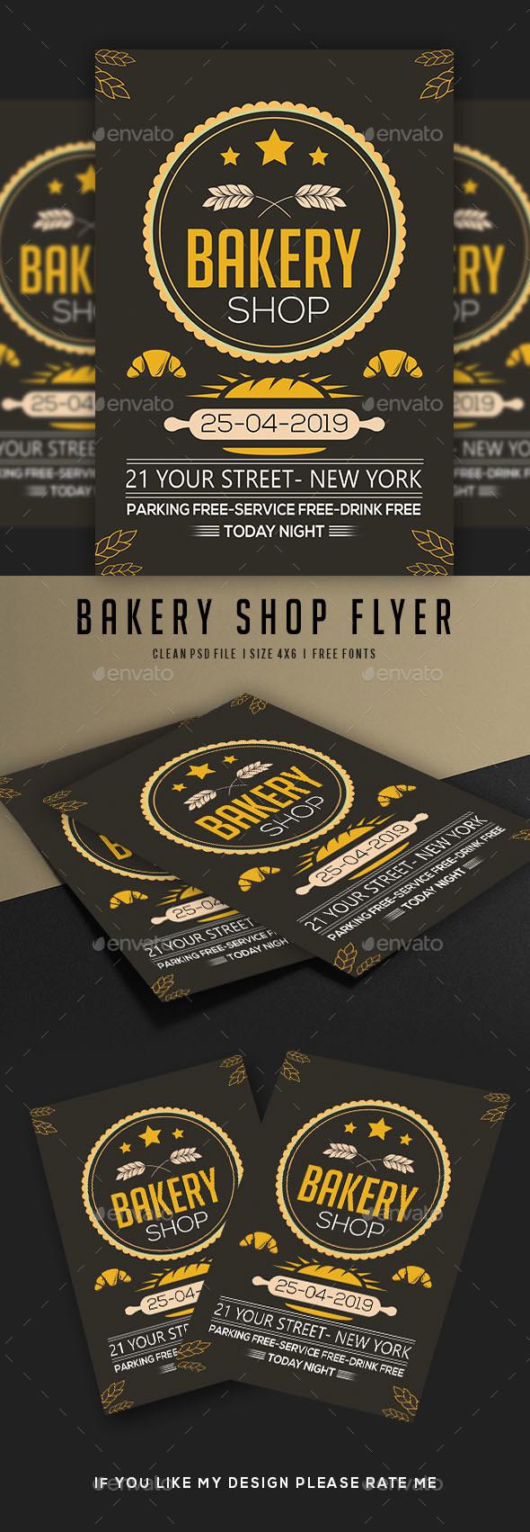 Bakery Shop Flyer - Flyers Print Templates