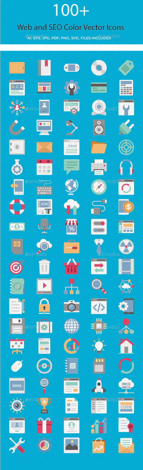 Web and SEO Vector Icons - Icons