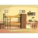 Vector Cartoon Student Dormitory Room Interior