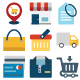 Shopping and E Commerce Color Vector Icons Set