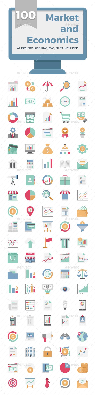 100 Market and Economics - Icons