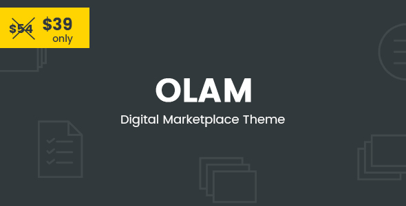 Olam - WordPress Easy Digital Downloads Theme, Digital Marketplace, Bookings - eCommerce WordPress
