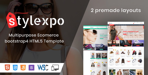 Image of Stylexpo- Responsive Multipurpose E-Commerce HTML5 Template
