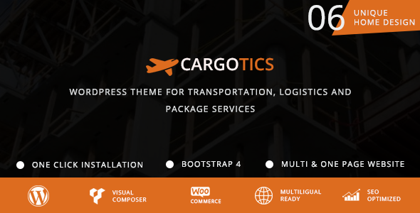 Image of Cargotics - WordPress Theme For Transportation, Logistics and Package Services